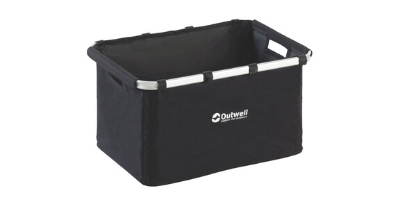 Outwell Folding Storage Basket Camping box accessoires L zwart